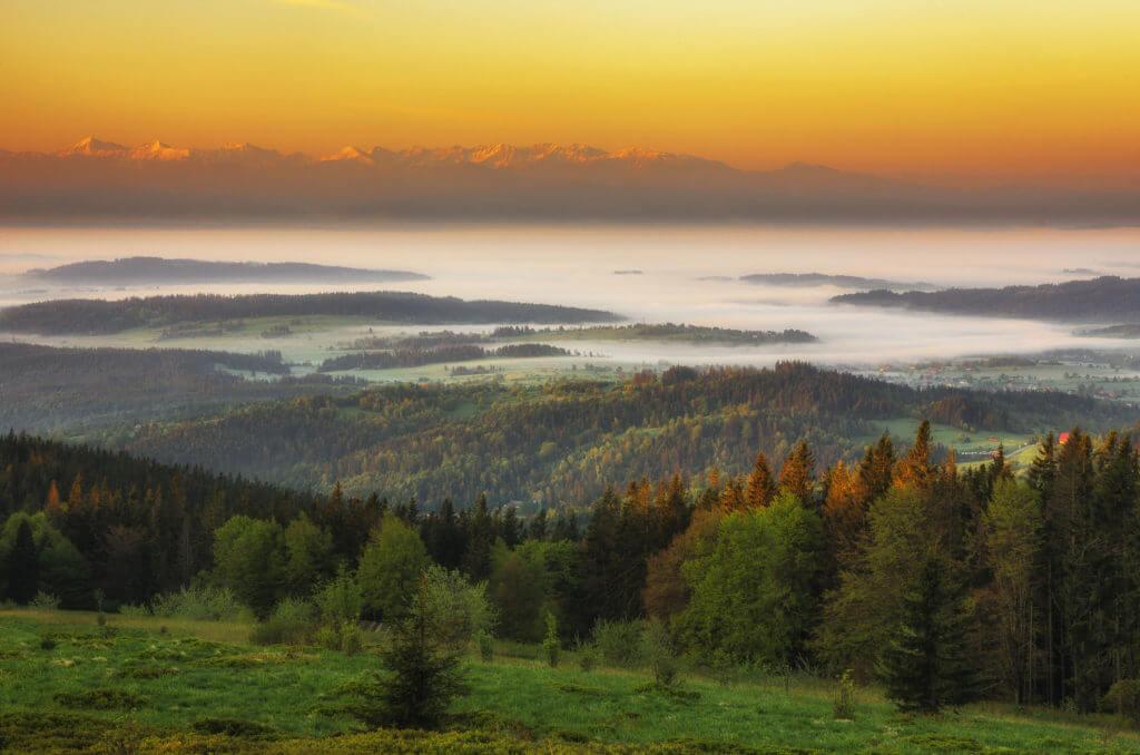 wschód słońca na Hali Krupowej