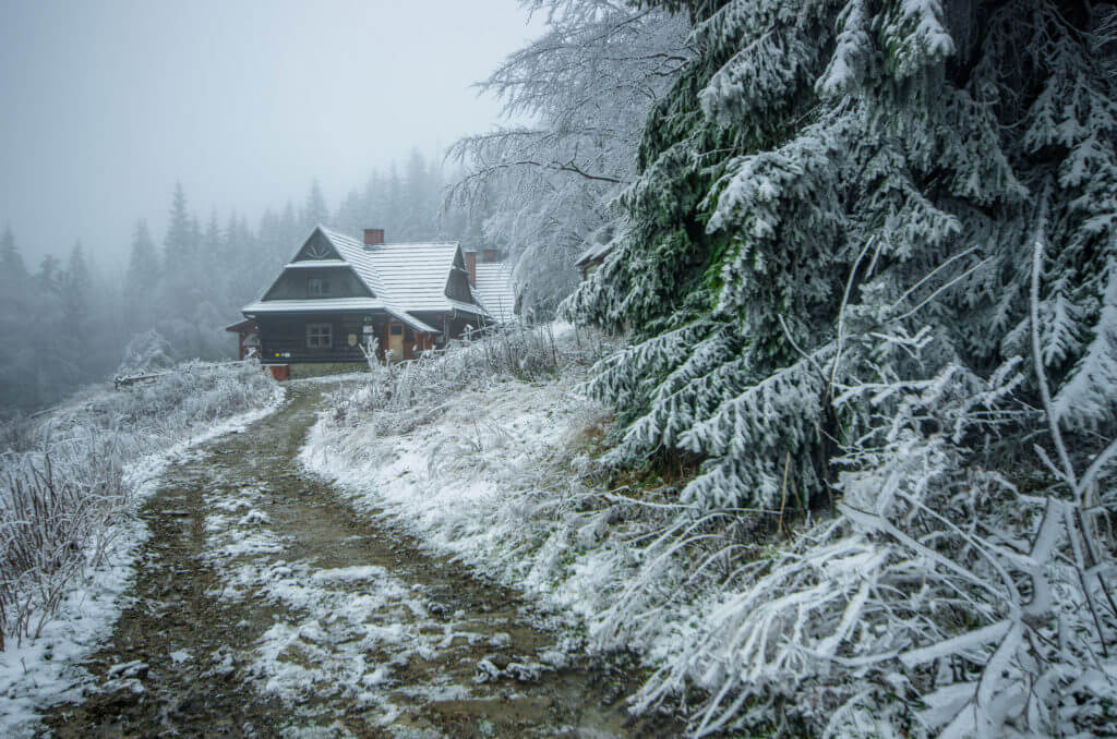 Hala Krupowa zimą